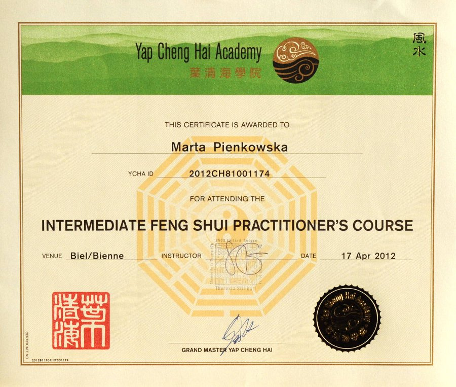 Intermediate Feng Shui